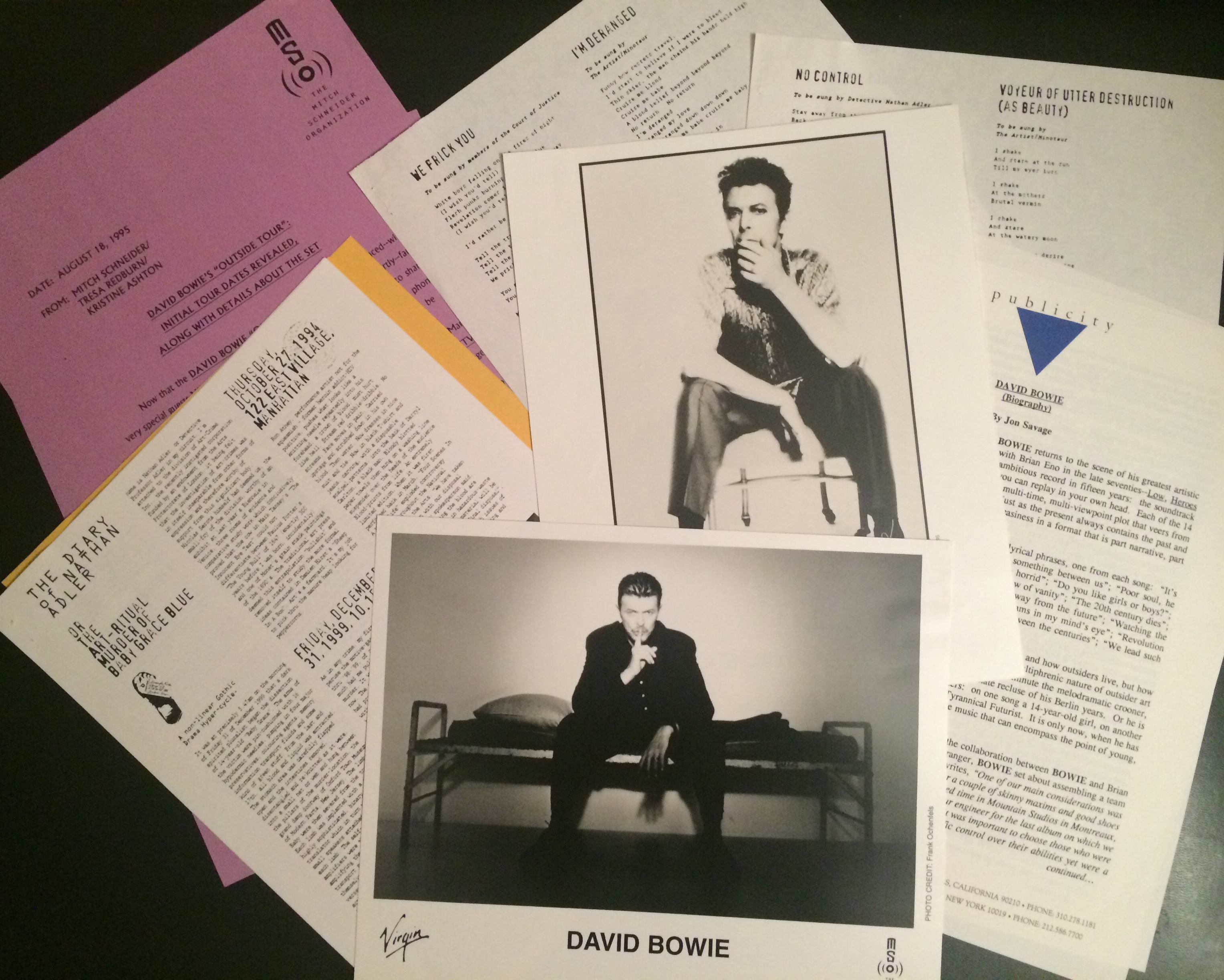 david bowie press kit Outisde