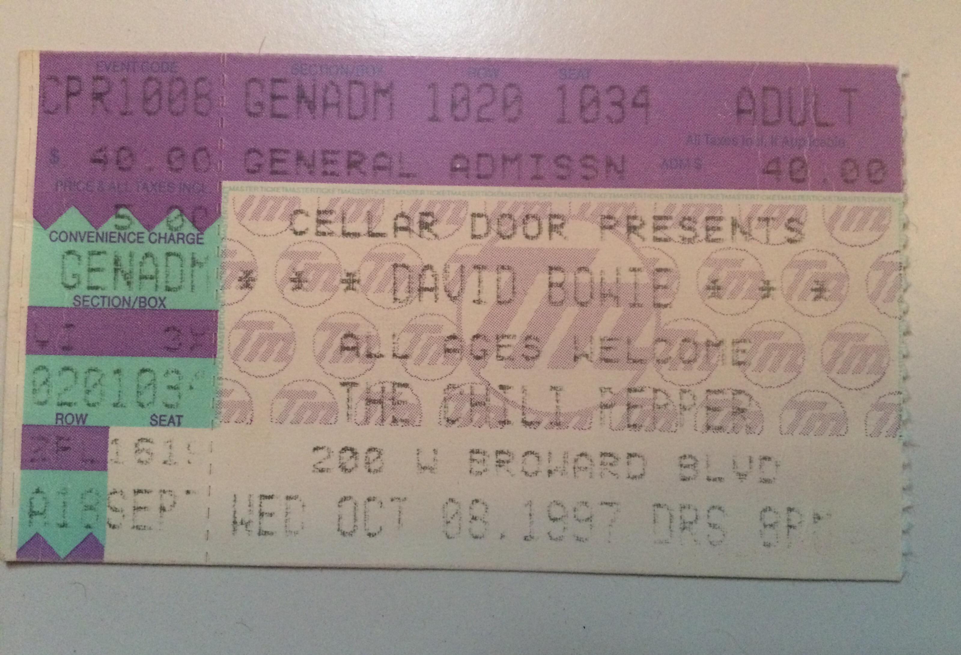 David Bowie Chili Pepper 10-7-97